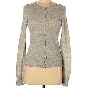 JCREW wool blend sweater with blingy buttons